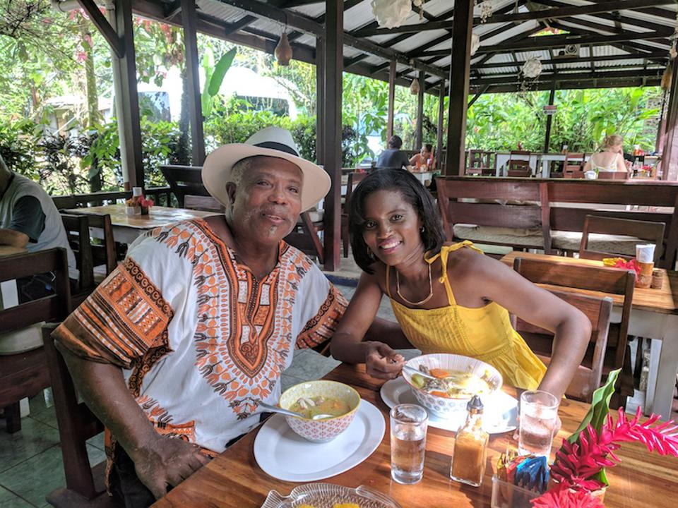 Kim Haas, the host of the new PBS show, ″Afro-Latino Travels with Kim Haas,″ sits with Chef Selvin Brown.