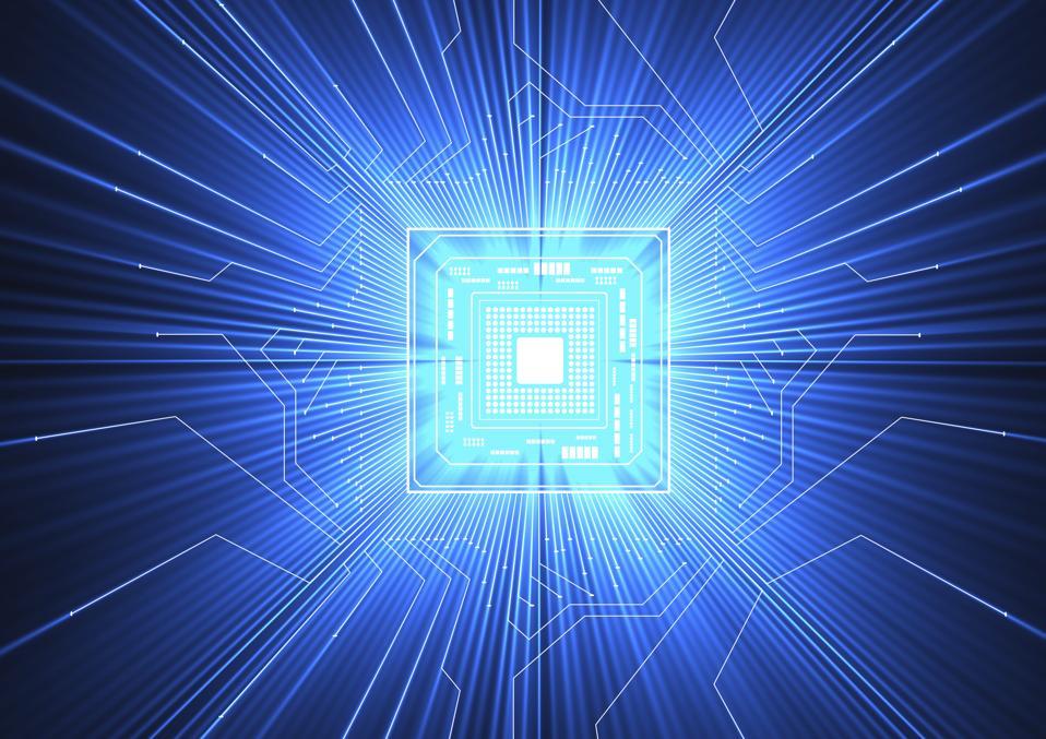 Quantum computer, electronic circuitry