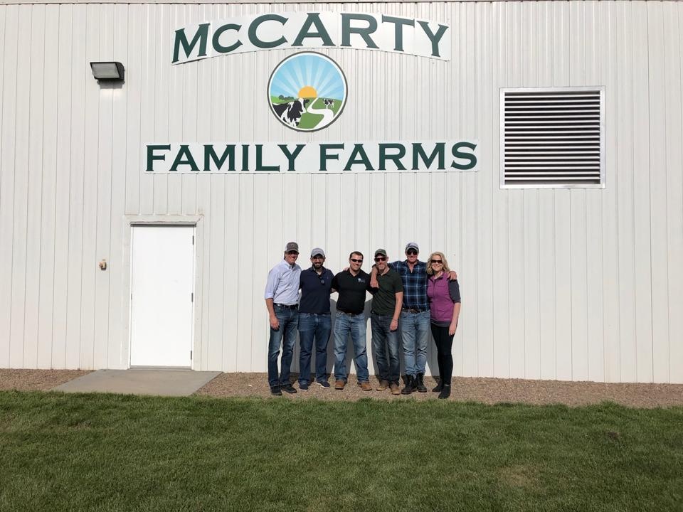rePlant Capital cofounders Don Shaffer (far left) and Dave Haynes (second from right) visit the farm their fund made its first investment in January 2020.