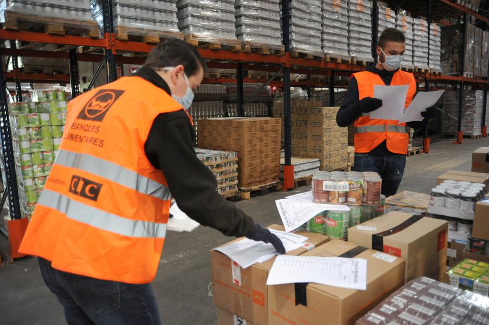 Lille, northern food bank.