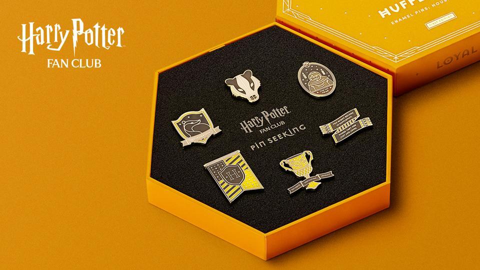Hufflepuff Set - Harry Potter Fan Club Pin Seeking Collection