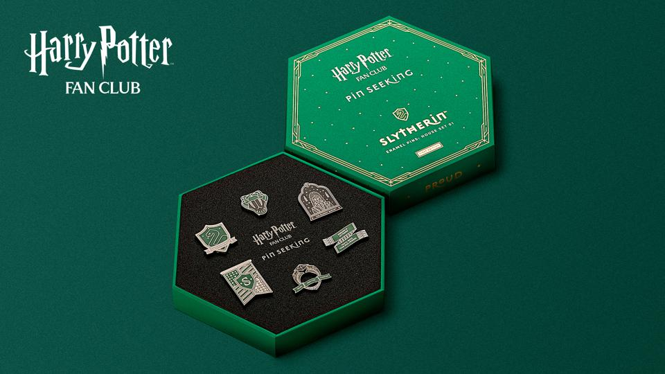 Slytherin Set - Harry Potter Fan Club Pin Seeking Collection