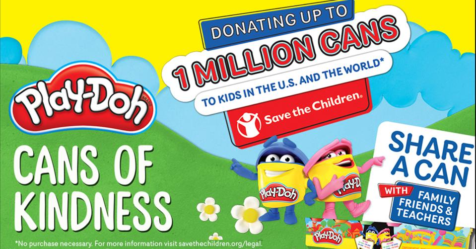 PLAY DOH Cans of Kindness Program with Save the Children