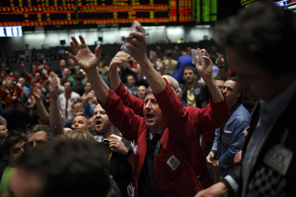 USA - Business - S&P 500 Pit at the Chicago Mercantile Exchange Group
