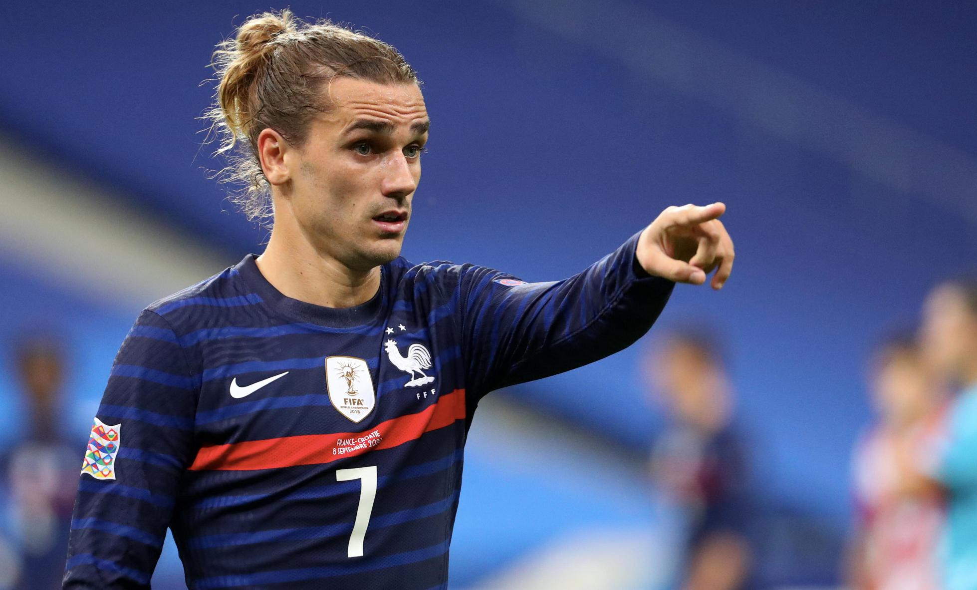 Antoine Griezmann of France reacts during the UEFA Nations League group stage match against Croatia.