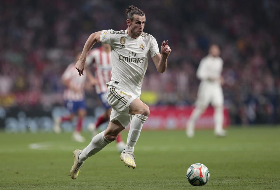 Gareth Bale atuando no Real Madrid
