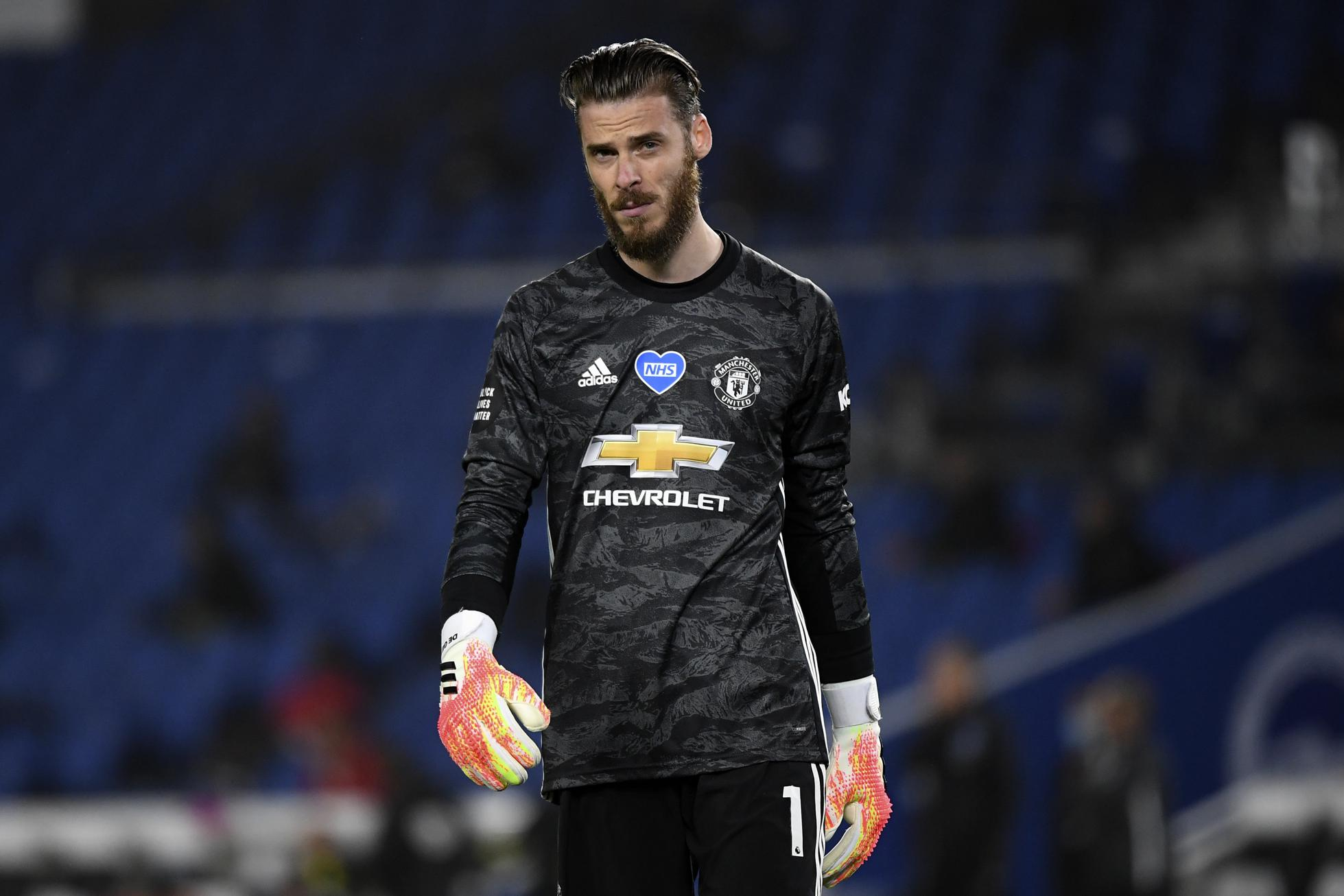David De Gea in the goal for Manchester United.