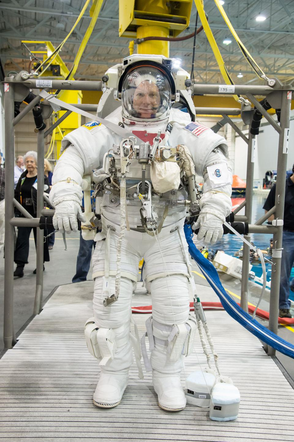 Astronaut, Colonel Terry Virts in his spacesuit
