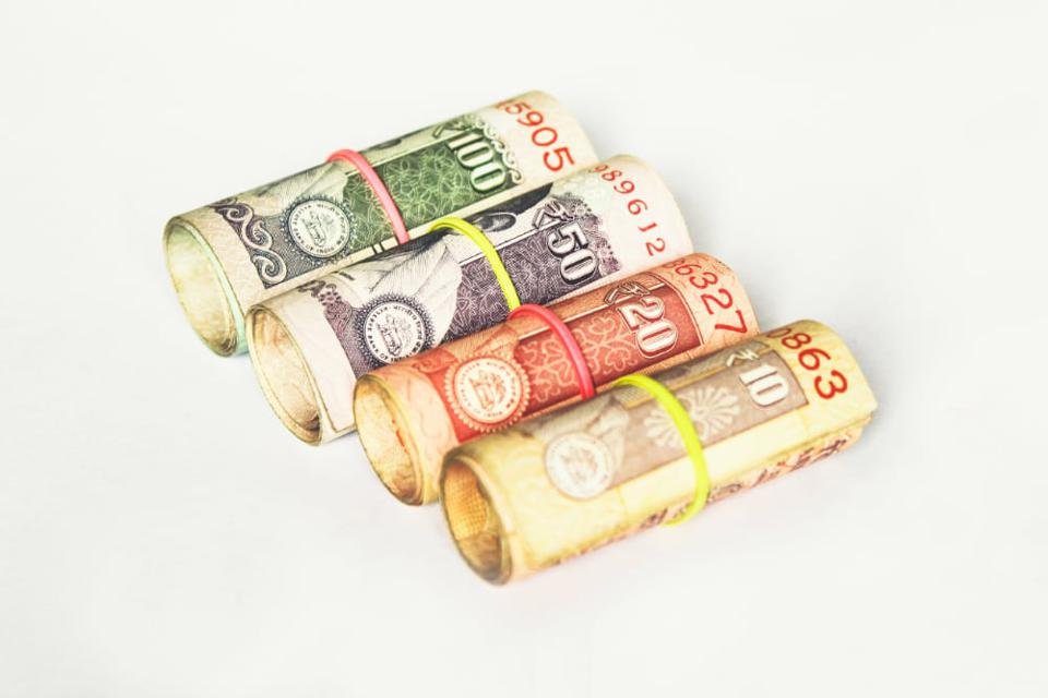 Cash in various currencies
