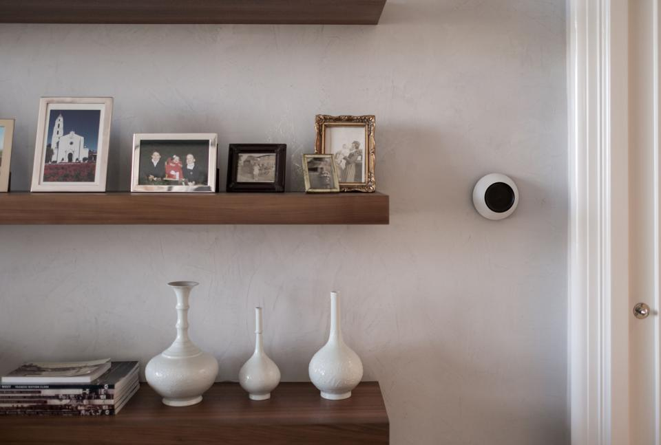 Smart home technology interface on wall.