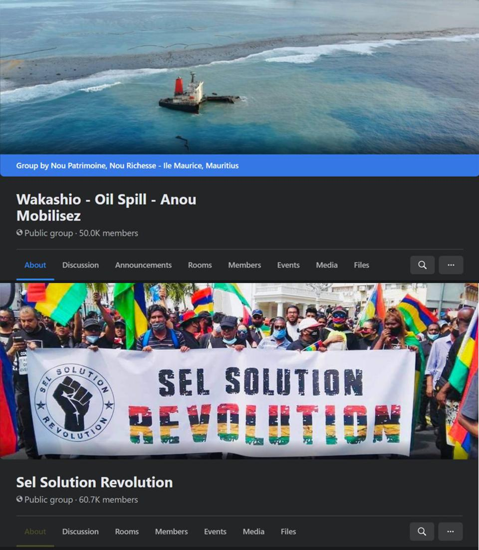 Two of the large self-organized social media groups that had been set up to respond to the oil spill, have had administrator rights removed.