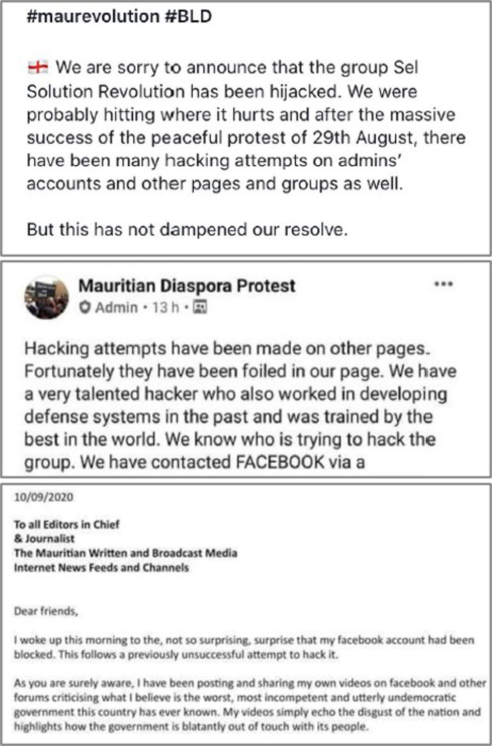 10 September 2020: a series of high profile accounts and groups have been complaining about restricted access to Facebook in the past few days.