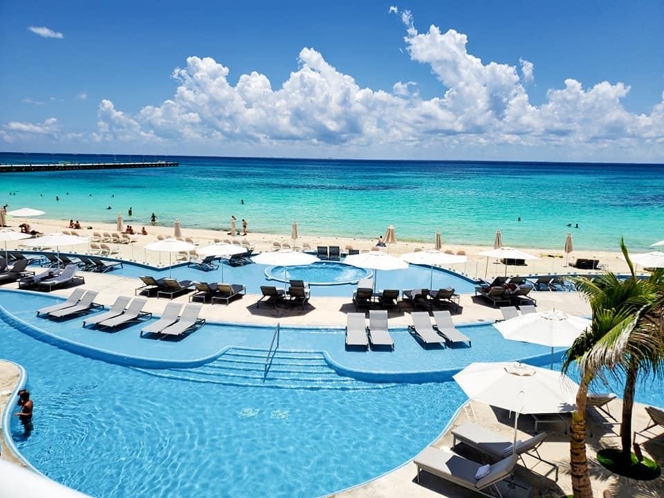 Pools at Playacar Palace in Playa del Carmen