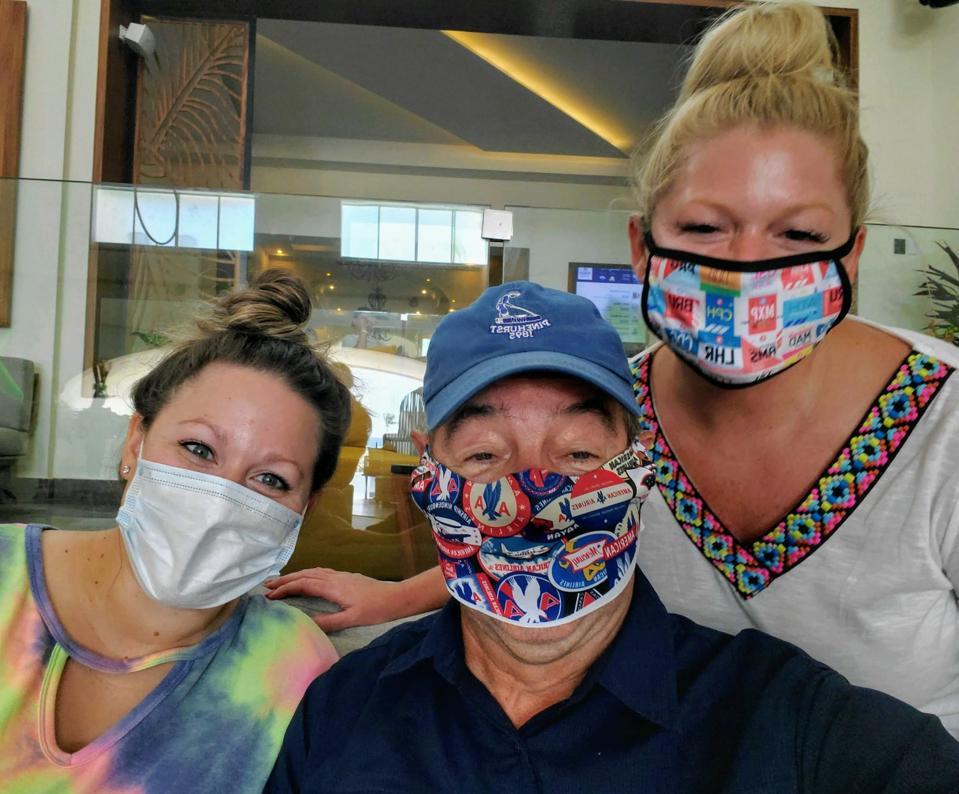 Masked up at Hyatt Ziva Cancun