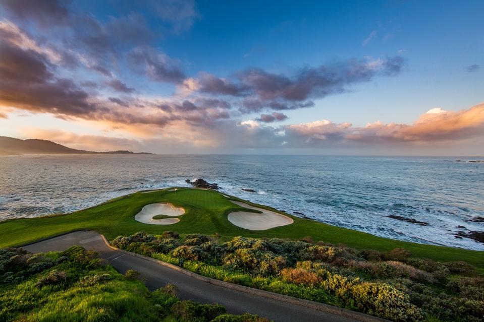 Seventh hole Pebble Beach golf course