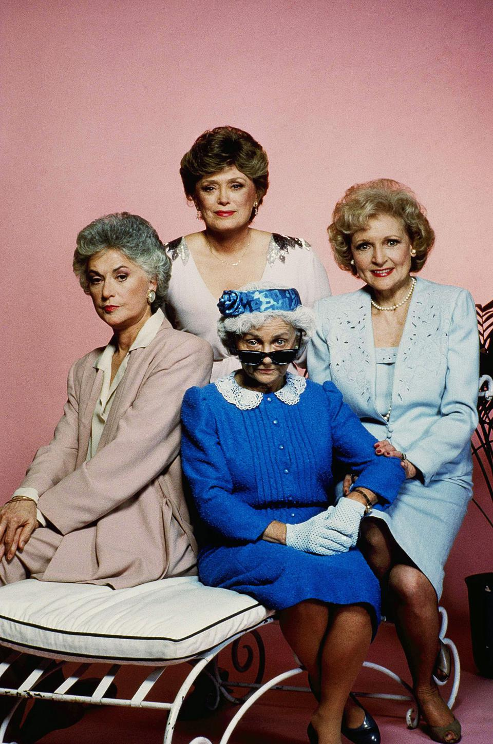Television Series: Golden Girls L to R: Estelle Getty, Rue McClanahan, Bea Arthur, Betty White.(AP Photo)