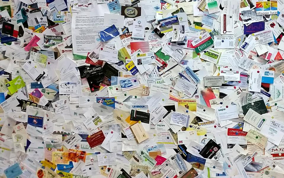 Full Frame Shot Of Business Cards