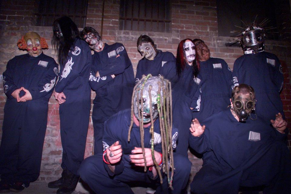 Slipknot at the Glass House in California, 2000.