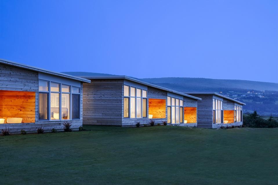 Golf cottages at Cabot Links, Nova Scotia.