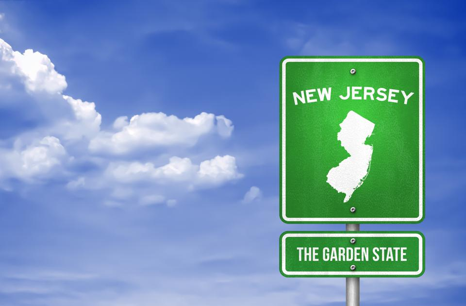 New Jersey - New Jersey Highway sign - Illustration