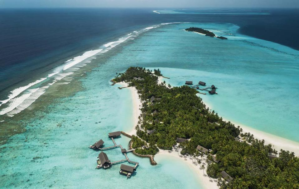 One&Only Reethi Rah and its location in the North Malé Atoll in The Maldives