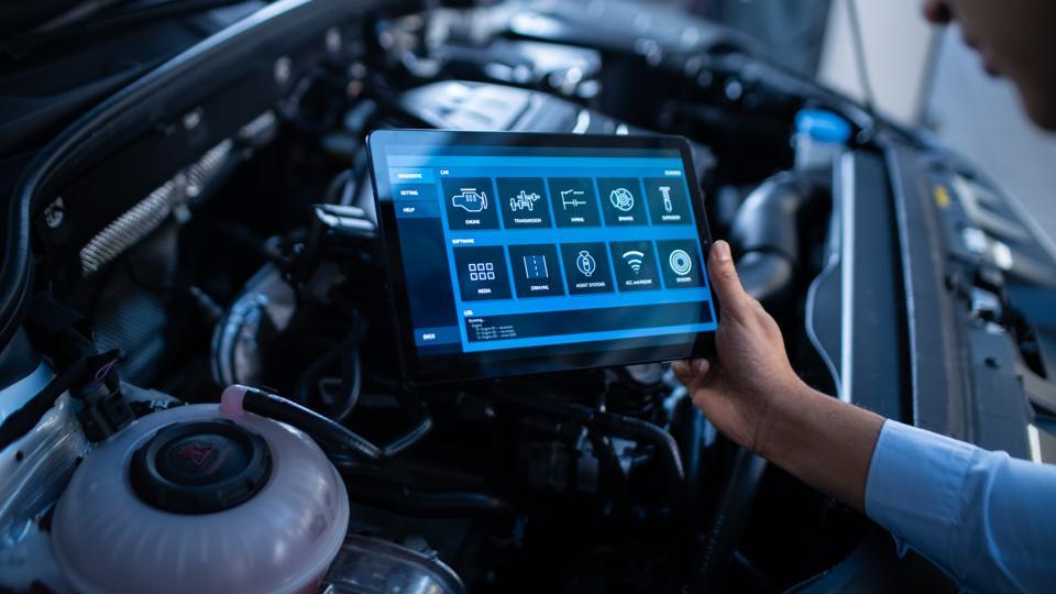 Vehicle diagnostics using a tablet