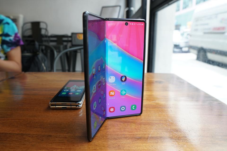 The Samsung Galaxy Z Fold 2.
