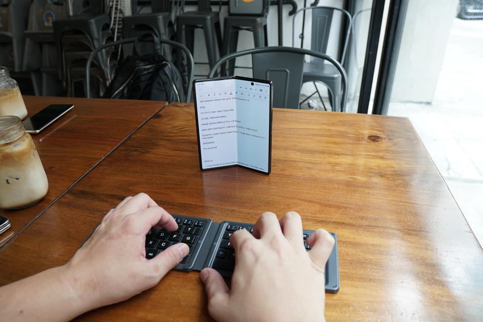 The Fold 2 when paired with a bluetooth keyboard makes for a great mobile work machine.