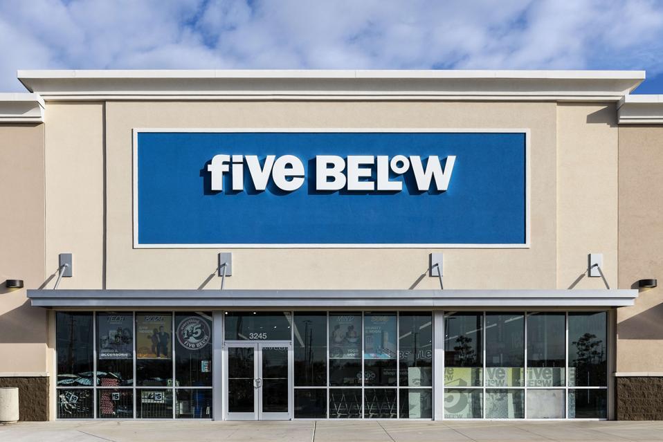 Five Below women's apparel store...