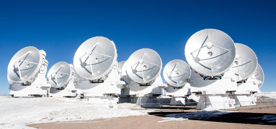 The Atacama Large Millimeter/submillimeter Array (ALMA) in Chile.