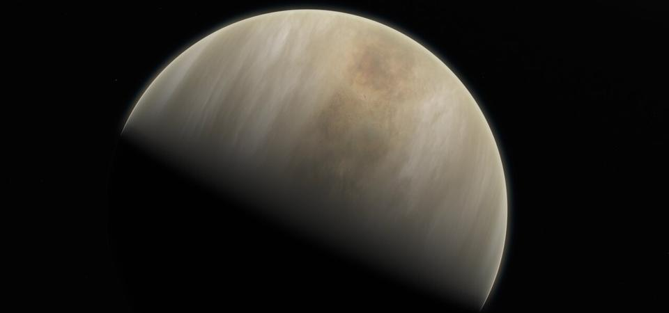 This artistic impression depicts our Solar System neighbour Venus, where scientists have confirmed the detection of phosphine molecules.