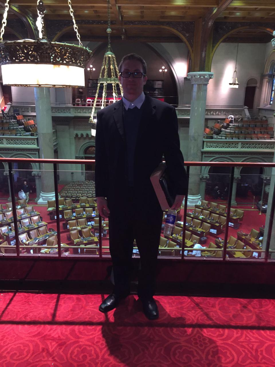 Jason at the NY State Assembly
