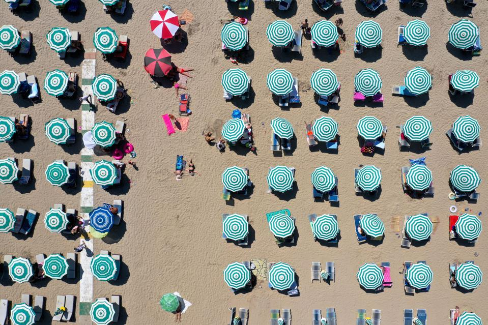 TOPSHOT-Beach in ALBANIA-HEALTH-VIRUS-TOURISM