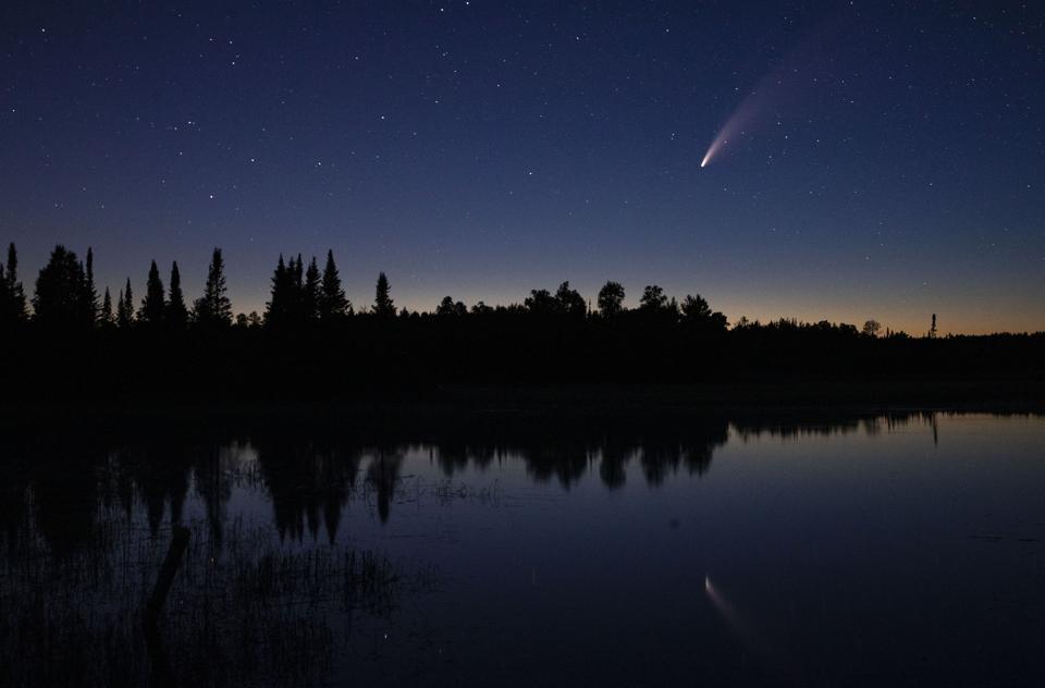 NEOWISE Comet over Minnesota