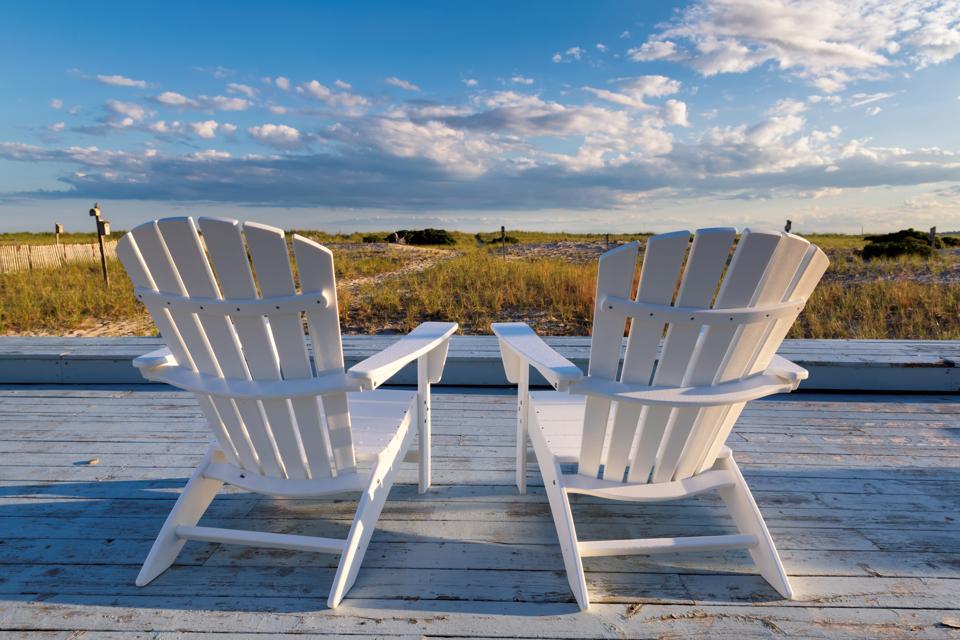 Beach chairs on a Cape Cod beach