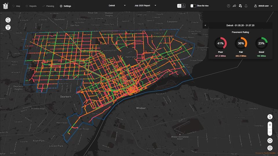 Map created using technology by Israeli company Tactile Mobility.
