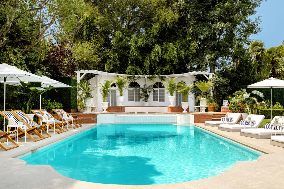 Will Smith, The Fresh Prince of Bel-Air, mansion, Brentwood, Bel-Air, California, Airbnb, pool