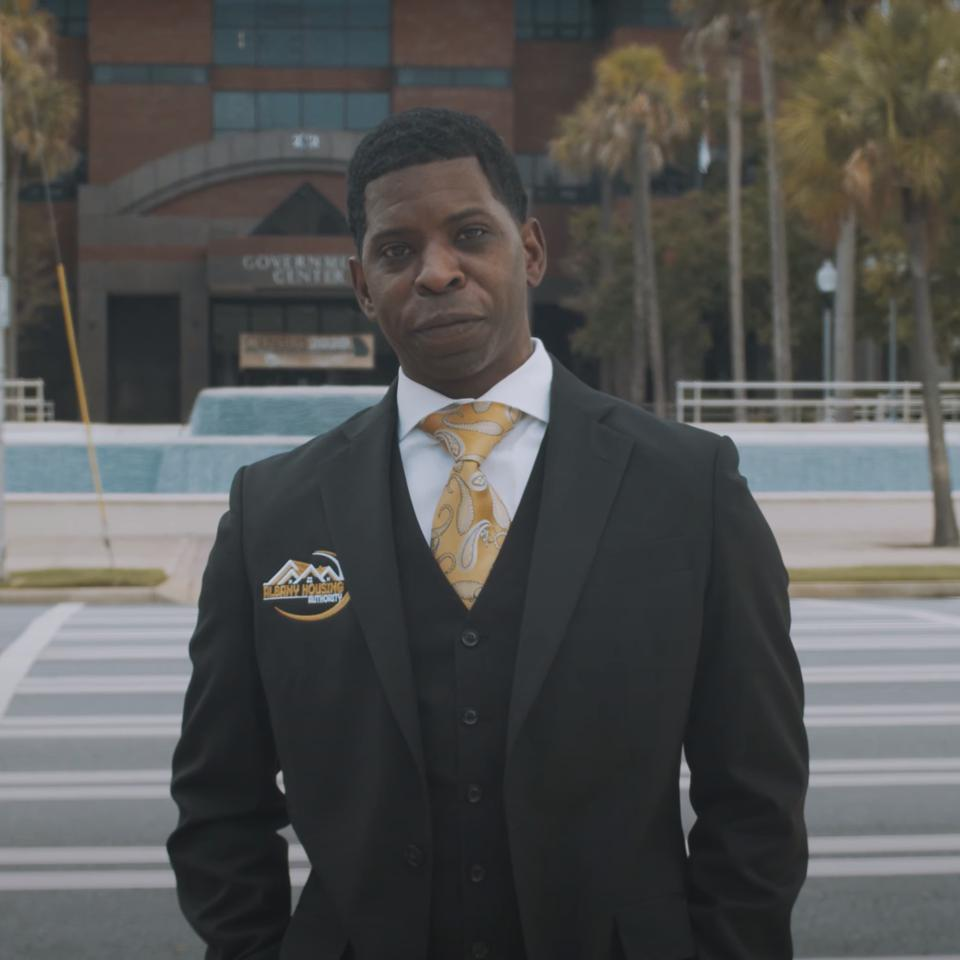 Albany Housing Authority CEO Dr. William Myles in the First To Know music video