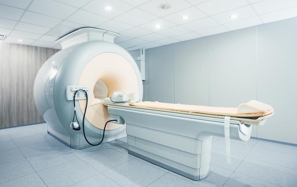 MRI scanner at a hospital/