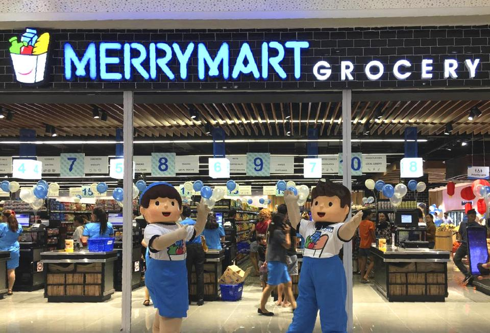 MerryMart grocery store in DoubleDragon Plaza.