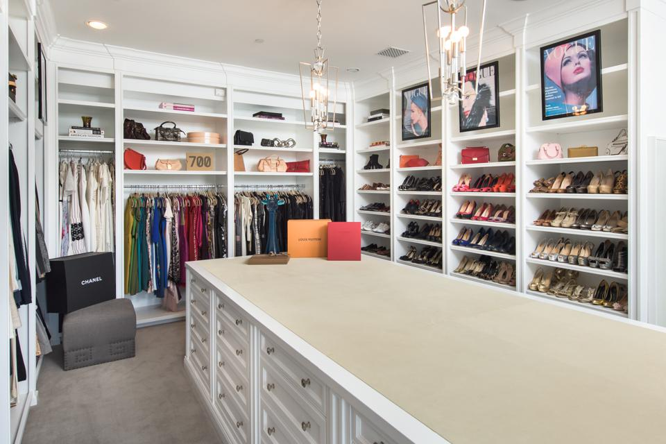 Bel-Air, Kathy Griffin, comedian, contemporary Mediterranean, design, custom fashion closet