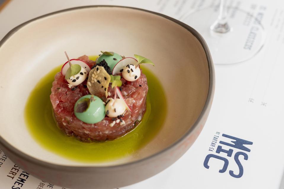 The tuna tartare at Misc by Tartar-ia is a signature dish.
