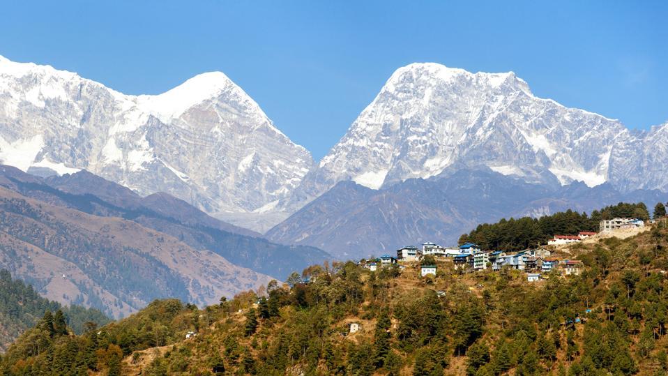 Phaplu village near Sallery and Himalayas