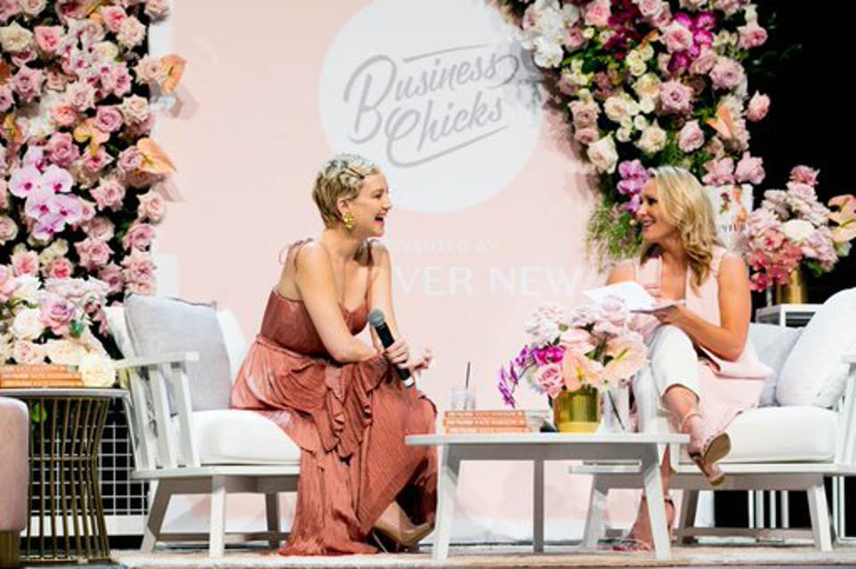 Celebrity and Fabletics Founder Kate Hudson interviewed by Emma Isaacs