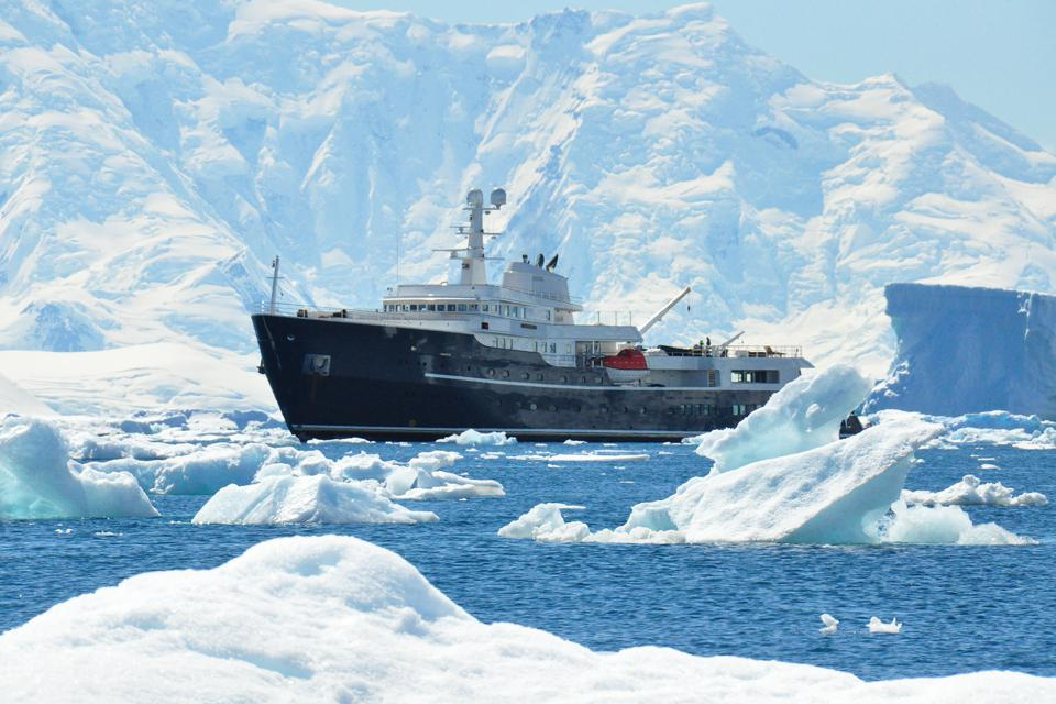 Polar explorer yacht Legend in Antarctica
