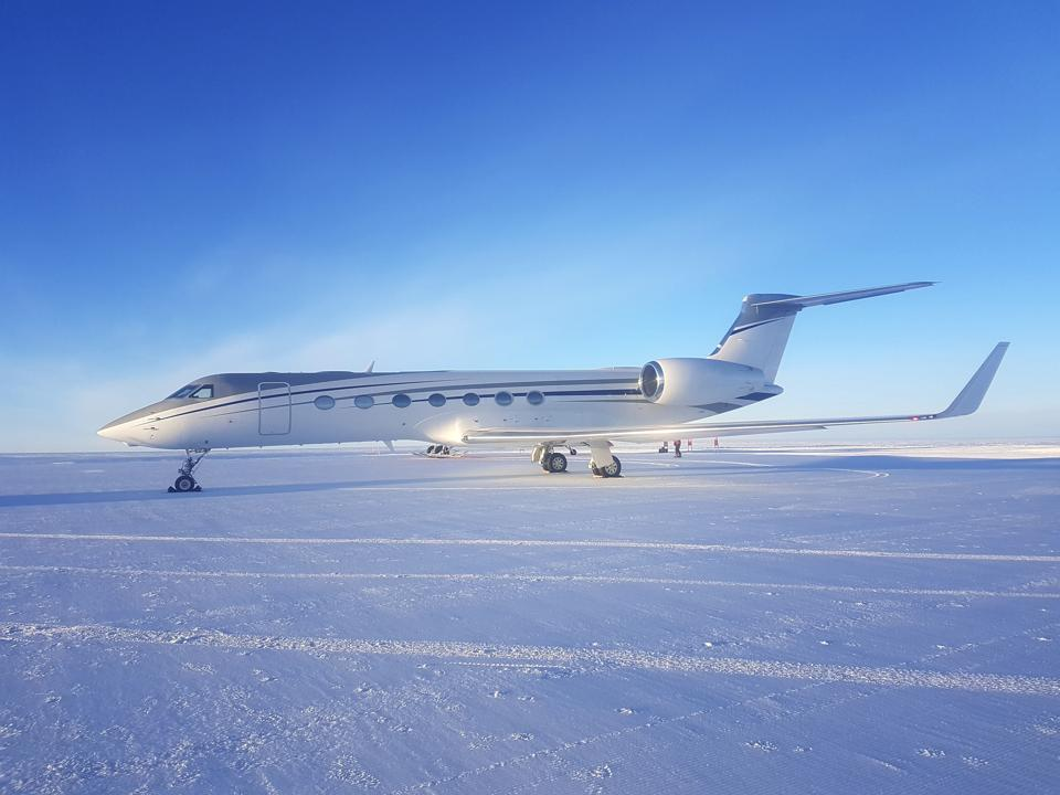 Flying a Gulfstream jet to an ice runway at south pole is only part of the most exclusive vacation in the world.