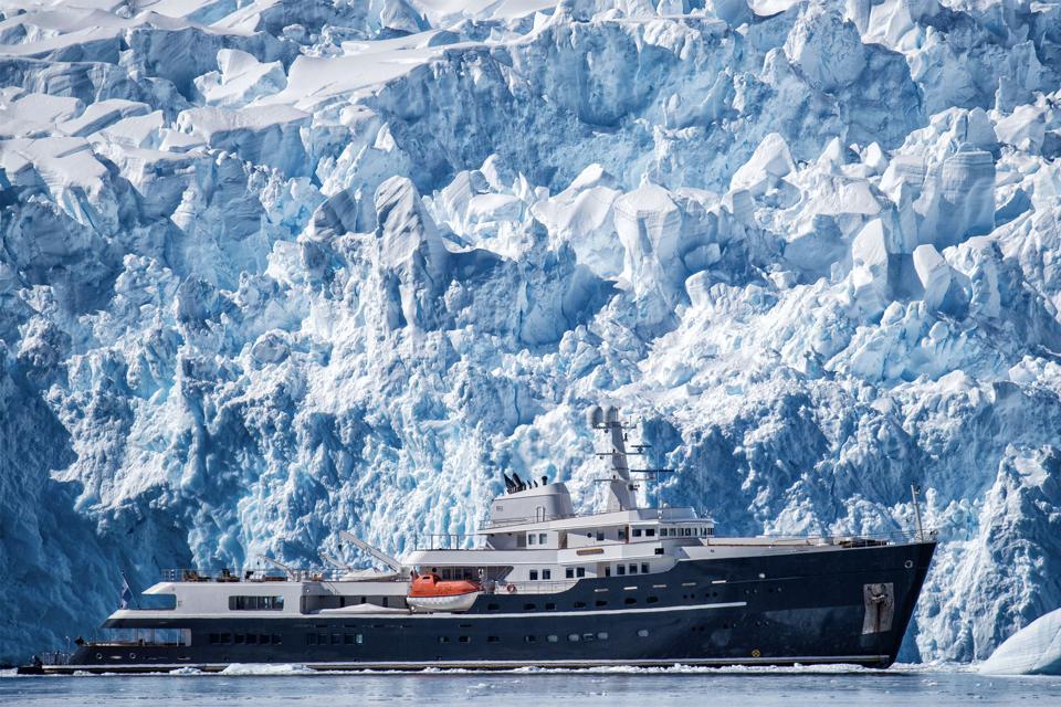 Luxury explorer yacht Legend in Antarctica