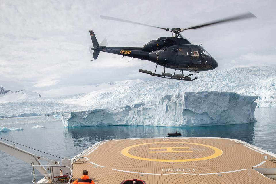 Heli-ops onboard Legend in Antarctica