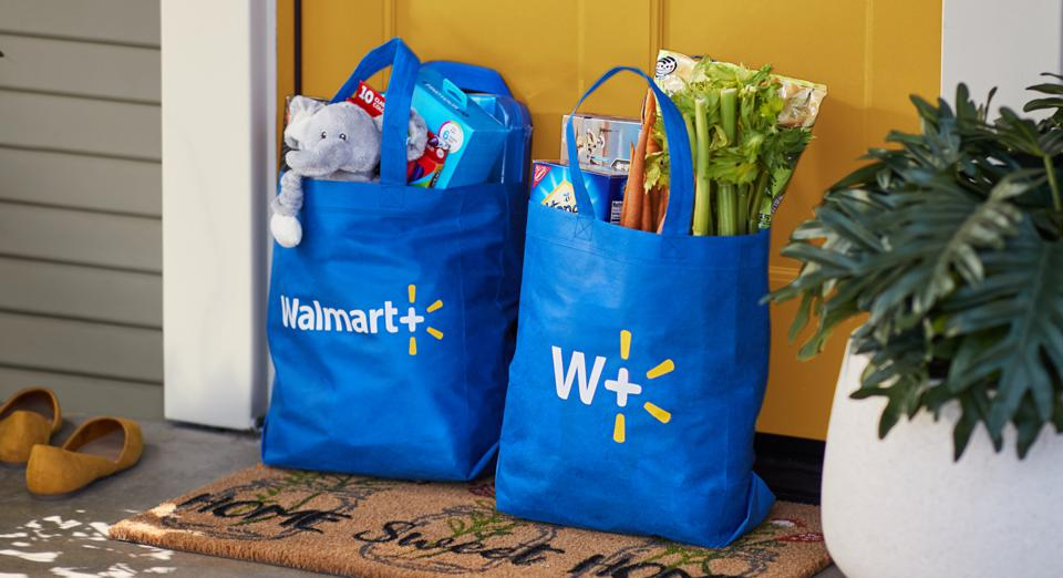 bags of groceries from Walmart+