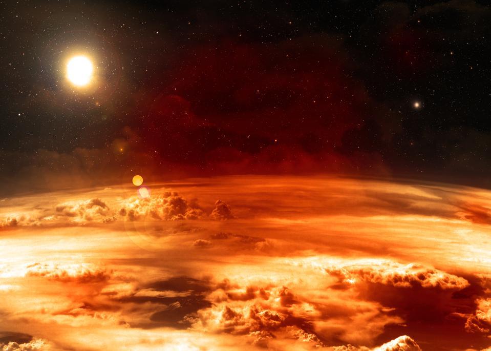 Venus.  Parts of this image thanks to NASA.